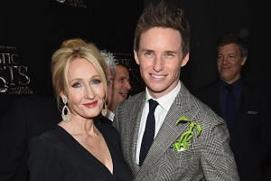 Author J.K. Rowling and actor Eddie Redmayne at the world premiere of Fantastic Beasts And Where To Find Them at Lincoln Center in New York City last week.