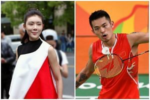 Intimate photos and gifs of Lin Dan (right) and a woman, identified as model and actress Zhao Yaqi, were posted on Weibo on Thursday (Nov 17).