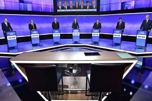 France's seven centre-right presidential candidates hold their third and final televised debate on Nov 17, 2016, before the first round of their primary on Nov 20.