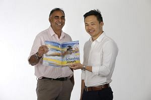 The 148-page Schooling Joseph, by Mr Brijnath (left) and Mr Chan (right), is one of two authorised biographies published by Straits Times Press. The other, From Kid To King, is written by ST news editor Marc Lim.