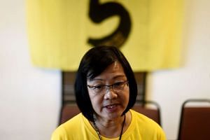Maria Chin Abdullah, chairperson of the coalition of Malaysian NGOs and activist groups known as Bersih, speaks with journalists in Kuala Lumpur on Sept 14, 2016.