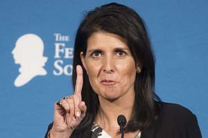 Trump has nominated South Carolina's 44-year-old governor, Nikki Haley (above), as US ambassador to the United Nations.