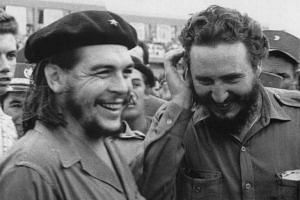 Then Cuban Prime Minister Fidel Castro (right) during a meeting next to Argentine guerrilla leader Ernesto Che Guevara in the 1960s.
