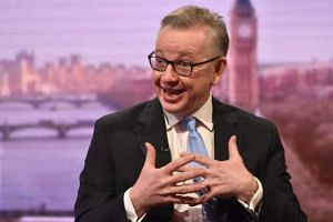 British Member of Parliament Michael Gove is seen speaking on the BBC's Andrew Marr Show in this photograph received via the BBC in London, Britain on Nov 27, 2016.