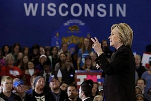 Hillary Clinton speaks at a campaign event in Milwaukee, Wisconsin, on March 28, 2016.