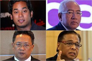 Defence Minister Hishammuddin Hussein is defending his Umno vice-presidency and among those said to be eyeing the post are (clockwise from top left) Mr Khairy Jamaluddin , Mr Mahdzir Khalid, Mr Ismail Sabri and Mr Abdul Rahman Dahlan.