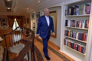 Malaysian Prime Minister Najib Razak arriving for an interview with The Star newspaper in the library of his official residence.