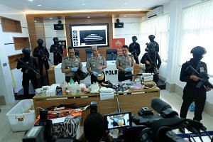 Among the weapons seized from militants who are members of the terror cell in Majalengka, West Java, are air-soft rifles, daggers, high explosives, as well as a bow and arrow, said National police spokesman Inspector General Boy Rafli Amar at a media