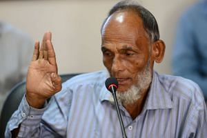 Bangladeshi railway lineman Billal Hossain Mazumder recounting his experience pulling a suicidal man off the tracks in front of an oncoming train, during an award ceremony on Dec 4, 2016.