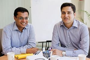 """""""You need to keep innovating and driving things forward,"""" said Mr Binny Bansal (right), seen here with co-founder Sachin Bansal."""