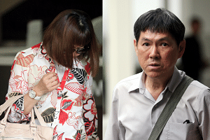 Ivy Cheo Soh Chin (left) and Nah Hak Chuan, both aged 66, will next appear in court on Jan 17.