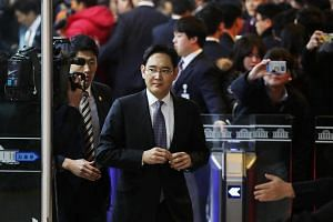 Lee Jae Yong, co-vice chairman of Samsung Electronics Co., arrives at a parliamentary hearing at the National Assembly in Seoul, South Korea, on Dec 6, 2016.