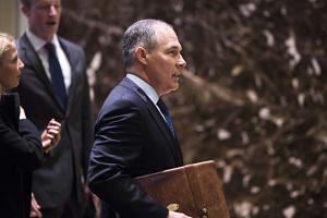 Scott Pruitt, attorney general of Oklahoma, arrives at Trump Tower in New York, US on Dec 7, 2016.