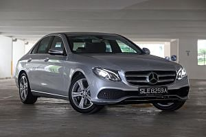 The new Mercedes-Benz E200 measures 5m front to back.
