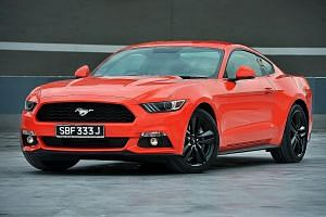 The Ford Mustang 2.3 harks back to the styling of the 1960s and 1970s.