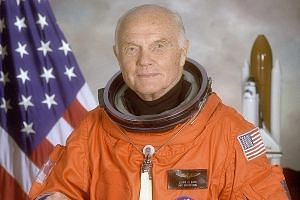 Mr Glenn in a photo taken in 1998, the year he made history again by returning to space at 77. His long career as an explorer exemplified the American pioneering spirit.