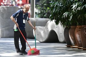 Mr Leow, who has been working in the cleaning industry for more than 20 years, says he will save the extra income he gets to pay for healthcare costs.