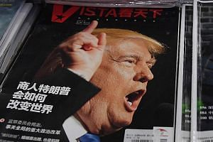 A Chinese magazine featuring Mr Trump on its cover with the headline