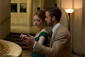 "Emma Stone and Ryan Gosling in ""La La Land"", which leads the Golden Globe nominations."