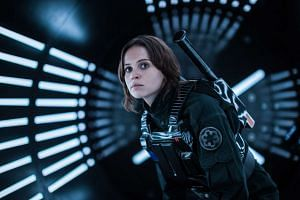 Rogue One centres on Jyn, played by English actress Felicity Jones, an orphan raised by the Rebellion who assembles a team to steal the secret plans for the Death Star.