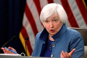 Federal Reserve Chair Janet Yellen holds a news conference following day two of the Federal Open Market Committee meeting in Washington on Dec 14, 2016.
