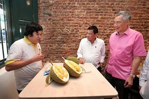 Prime Minister Lee Hsien Loong and President Rodrigo Duterte ended their meal with D13 and Mao Shan Wang durians.