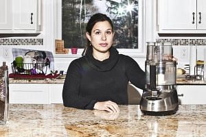 Suzy Scherr, a chef and cookbook author, with her damaged Cuisinart food processor in her home in Chappaqua on Dec 15, 2016.