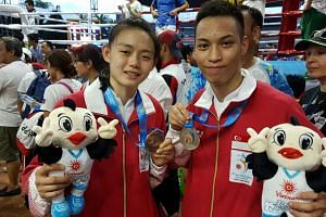Cheryl Gwa, who won a bronze in the women's light-flyweight (45kg-48kg) category at the Asian Beach Games, and Bryan Tee, who won a silver in the men's light-flyweight (45kg-48kg).