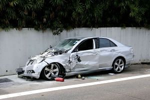 Businessman Lim Chai Heng, who drove a silver Mercedes-Benz that caused an accident on the AYE, was charged with causing death by reckless or dangerous driving.