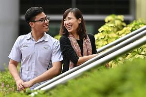 Changkat Changi Secondary School student Kevin Cheong with his mother Rosanna Wong, 46, a property agent. He used to lie to her and skip school, but changed his ways after a meeting with the school counsellor.