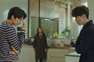 Gong Yoo (above left) and Lee Dong Wook star in K-drama Goblin, while Channel 8 drama Hero features Shaun Chen and Chen Hanwei.