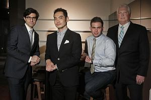 (From left) Platinum Partners deputy chief investment officer David Levy, Asiasons Capital managing director Jared Lim, Jett Capital deal adviser Stephen Silver, and Black Elk Energy chief executive John Hoffman in a photo taken in 2013, when they me