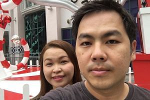 Janice Choo (left) and her husband Teh Tze Yong, in a picture taken before they met with an accident along the AYE on Dec 19, 2016.