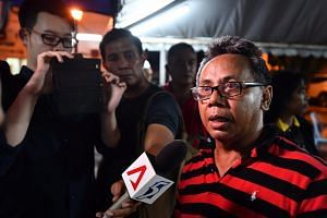 Mr Yusof Sabda, 54, a businessman and cousin of Hamimah Mammu, speaking to the media.
