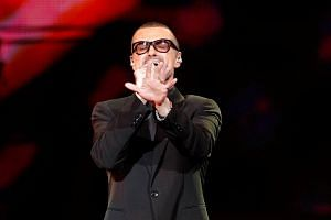 British singer George Michael performs on stage during his Symphonica tour concert in Berlin on Sept 5, 2011.
