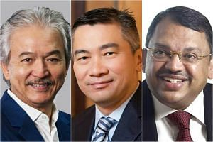 (From left) YCH Group executive chairman Robert Yap, SGX chief Loh Boon Chye, and Olam CEO Sunny Verghese.
