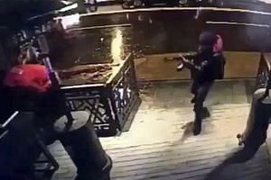A video image of the gunman entering the nightclub, where hundreds of people had gathered to welcome the new year.