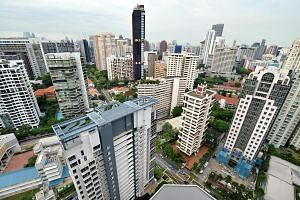 Home prices in the core central region, which includes the Scotts Road and Cairnhill areas (above), remained unchanged from the third to the fourth quarter.