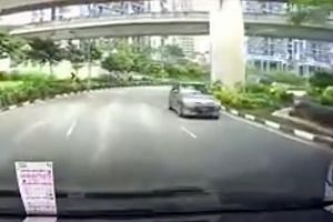 The footage of the car driving in the wrong direction was captured at Gateway Drive towards Westgate mall.