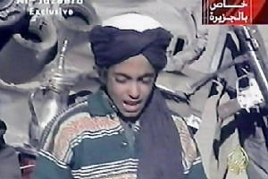 This screengrab taken on Nov 7, 2001, shows Hamza, who appears to be the youngest son of Saudi-born Osama bin Laden, as he recites a poem extolling Kabul and Mullah Mohammad Omar, supreme leader of Afghanistan's Taleban rulers.