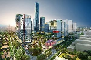 An artist's impression of the Tun Razak Exchange project, which will be transferred from 1MDB.