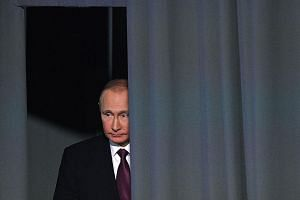 US intelligence agencies say Mr Putin sought to denigrate Mrs Clinton during the presidential election, and that Mr Trump's victory followed a complicated, multipart cyber information attack whose goal had evolved to help the Republican win.