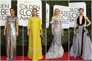 (From left) Actresses Ruth Negga, Natalie Portman, Nicole Kidman and Jessica Biel attend the 74th Annual Golden Globe Awards in Beverly Hills, California on Jan 8, 2017.