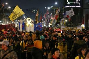 South Korea's Parliament voted to impeach President Park Geun Hye in December 2016 over an influence-peddling scandal that has brought hundreds of thousands of protesters onto the streets every week demanding her removal.