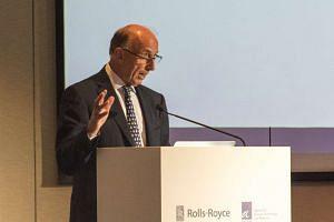 Rolls-Royce chairman, Mr Ian Davis, speaking at the memorandum of understanding signing ceremony at Marriott Hotel, on Jan 9, 2016.
