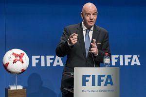 Fifa President Gianni Infantino speaks during a press conference after the Fifa Council meeting at the Home of Fifa in Zurich, Switzerland, on Jan 10, 2017.