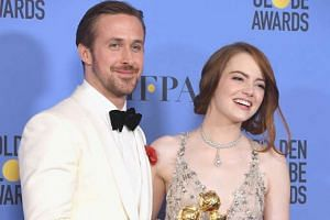 Actors Ryan Gosling and Emma Stone (both above) were winners for Best Actor and Best Actress in a Musical or Comedy Film for La La Land.