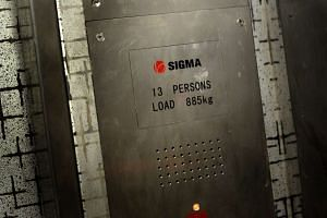 The interior of the Sigma lift at Block 17B, Circuit Road.