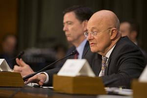 Director of National Intelligence James Clapper testifies during a Senate Armed Services Committe hearing on Russian Intelligence Activities, on Jan 10, 2017.