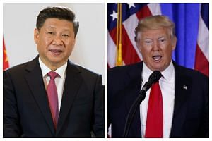 Mr Xi Jinping (left) and Mr Donald Trump will both be speaking at the World Economic Forum in Davos.